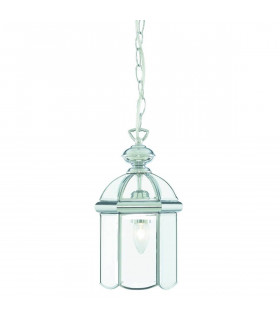 Suspension 18 cm Lanterns, en chrome et verre