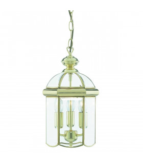 Suspension 22 cm Lanterns, en laiton poli et verre