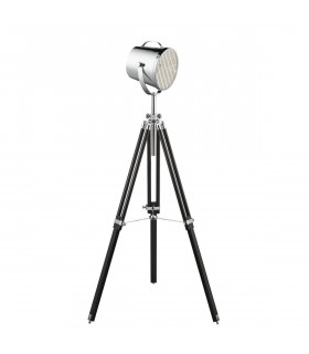 Lampadaire Adjustable Stage Lamp 150 cm, noir, chrome
