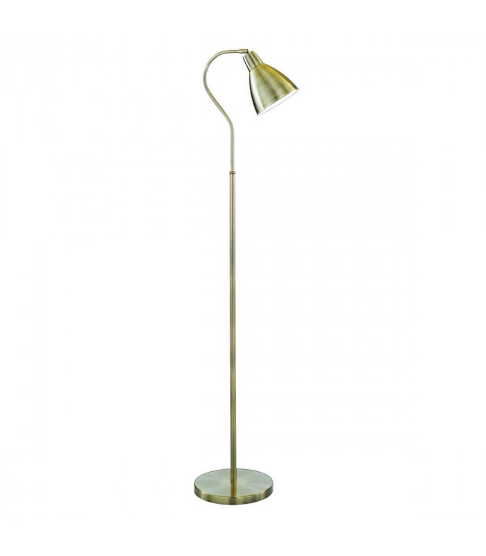 Lampadaire Adjustable, en laiton antique