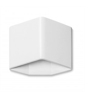 Applique LED Kub, Aluminium blanc