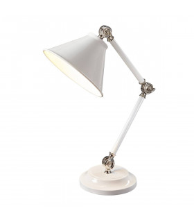Lampe Provence Element, blanc / nickel poli