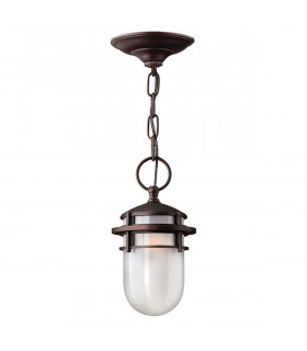 Suspension Reef max 193 cm, bronze et verre