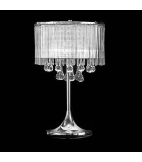 Lampe de table chromée en cristal Spirit 3 Ampoules