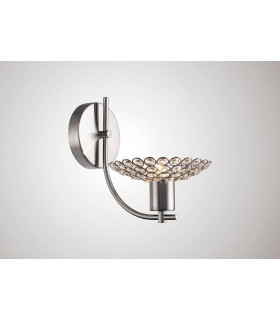 Applique murale Ellen 1 Ampoule nickel satiné/cristal