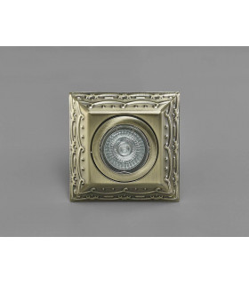 Downlight Aspen Vintage Design carré GU10 laiton antique