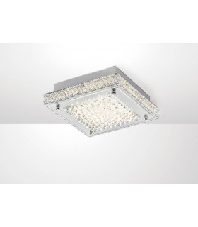 Plafonnier Amelia 12W 1200lm LED 4000K Stainless Steel/cristal