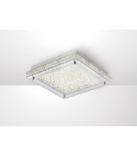 Plafonnier Amelia 18W 1800lm LED 4000K Stainless Steel/cristal