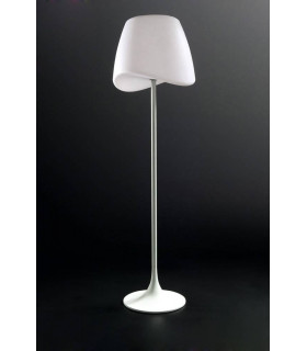 Lampadaire Cool 2 Ampoules CFL Outdoor IP65, blanc mat/blanc opal