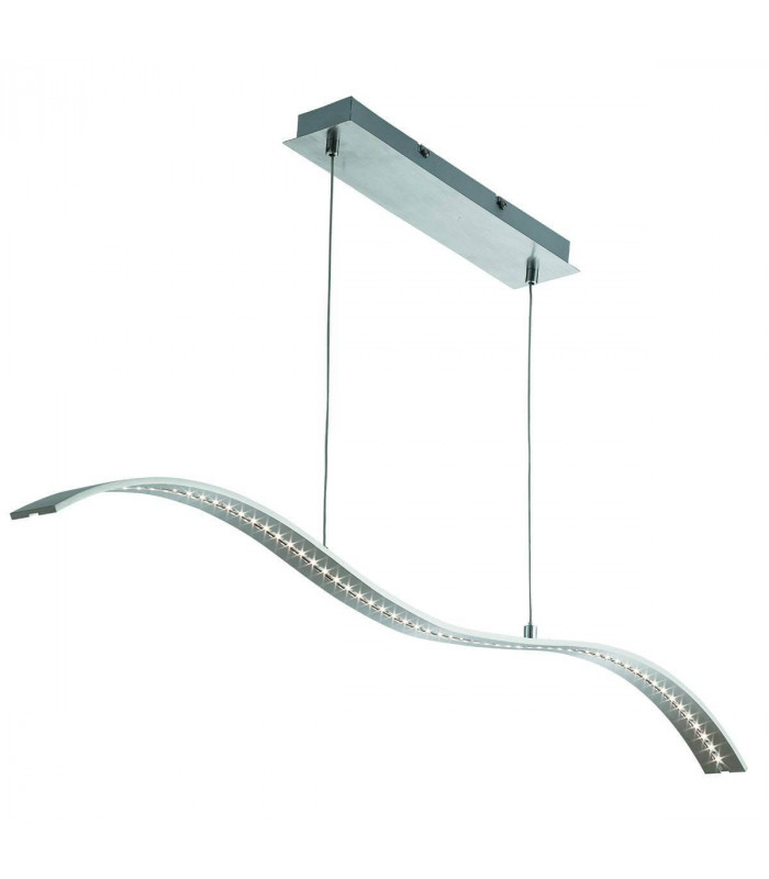 Barre vague LED en argent