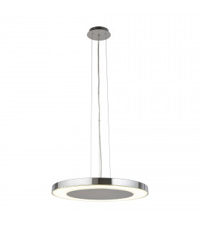 Suspension 50 cm Lexi, chrome et verre
