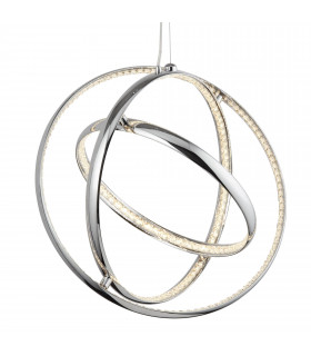Suspension Rings, en chrome et cristal, 3 anneaux