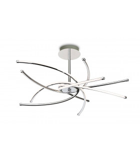 Plafonnier LED Caprice, chrome, 63 cm