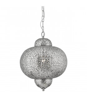 Suspension Moroccan 29 cm, en argent satiné